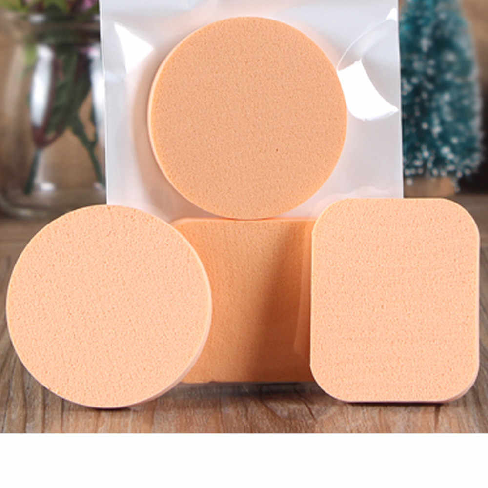 2PCS Spong Cosmetic Puff 1 Face Soft Women Lady Beauty Makeup Foundation Contour Facial Sponges Powder Puff 10.15