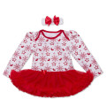 Baby Christmas Dress Snowflake Cotton Baby Girls Clothing Xmas Party Tutu Romper+Headband Girls Costume Infant Jumpsuit vestidos