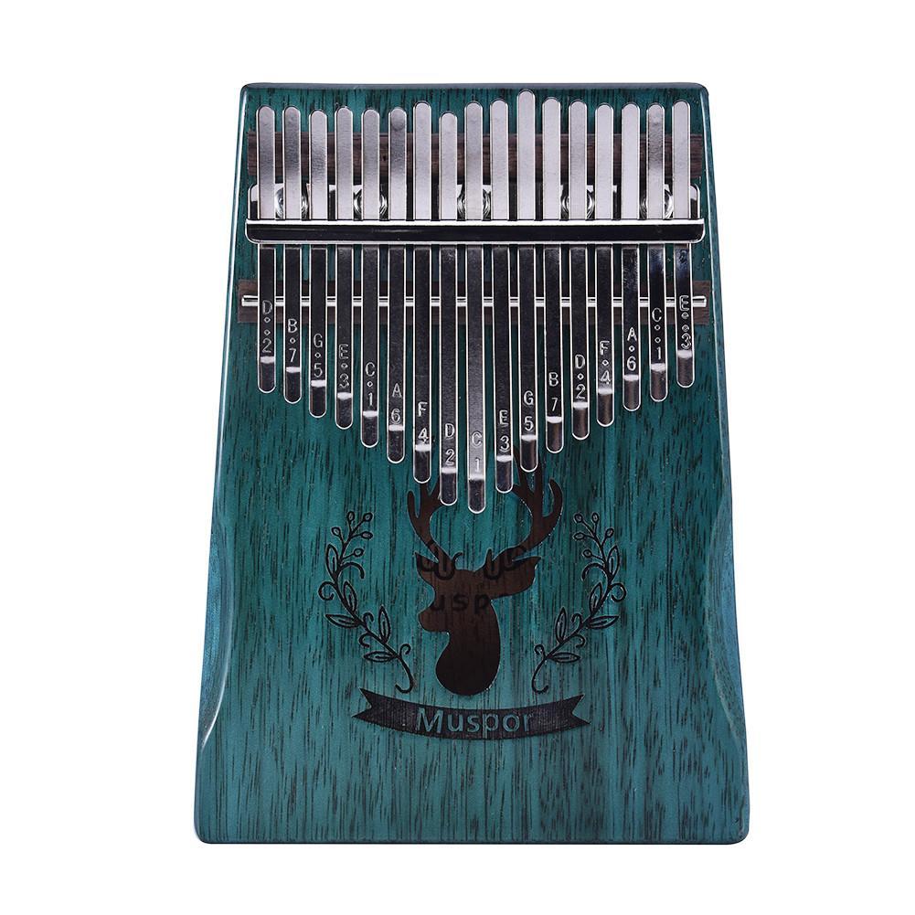17 Clave Thumb Piano Kalimba Alce Sonido Verde Agujero De Placa única Caoba Mbira Mini Instrumento De Teclado Dedo Piano Regalo De Navidad Un Remedio Soberano Indispensable Para El Hogar