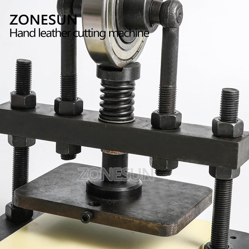 ZONESUN cuir machine de découpe 20x14cm pour papier photo PVC/EVA feuille moule coupe découpe cuir estampage artisanat - 2