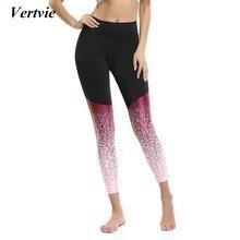 Vertvie Femelle De Yoga Leggings Courir Gym Leggings Pantalon Femmes De Yoga  Serré Sport Legging Élastique b242e7c94b3