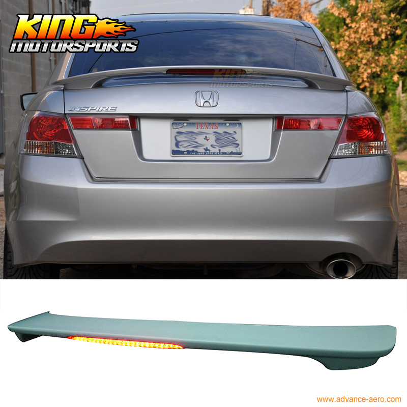 Fits 2008 2017 Honda Accord 4dr Sedan Oe Style Trunk Spoiler Led 3rd Brake Light In License Plate From Automobiles Motorcycles On Aliexpress