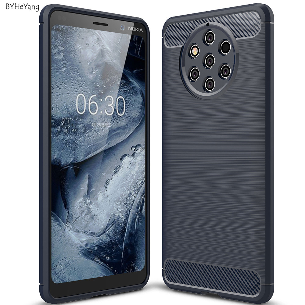 For Nokia 9 PureView Case for Nokia 9 Pure View Cover Soft Silicon Case TPU Cover Carbon Fiber Case For Nokia 9 PureView TA-1094