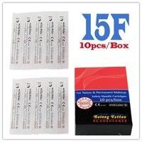 Solong Tattoo Naald Cartridges voor Rotary Machine Wegwerp Platte Tips EN03-15F