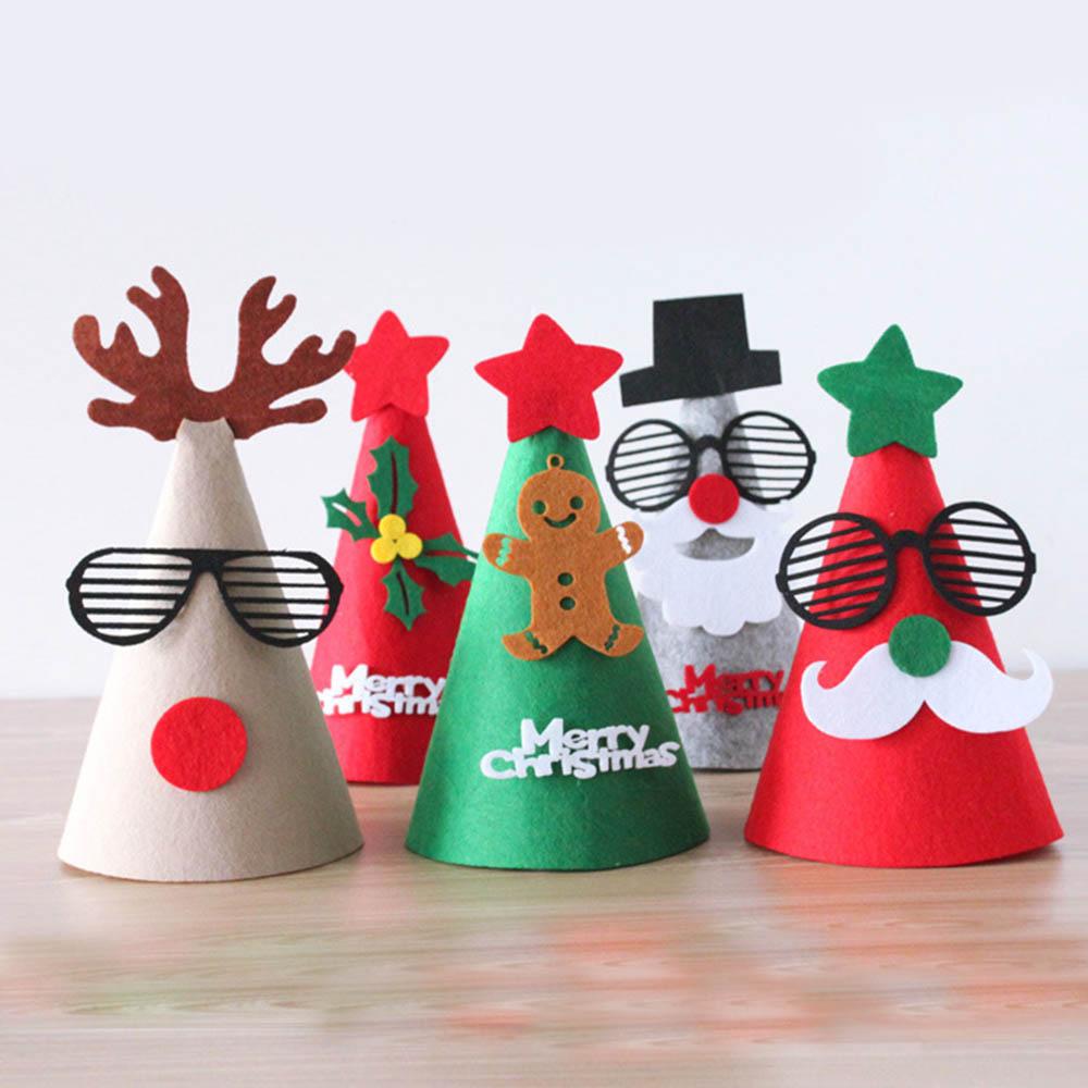 DIY Frohe Weihnachten Hut Fühlte Sankt schutzkappe Weihnachtsmann ...