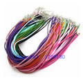 50pcs/lot 17-19 Inch Adjustable Mixed Color Necklace Korea Velvet Cord String 3mm For DIY Jewelry Making (K05059)