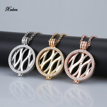 2017 My 33mm Coin Necklace pendants Genuine Gold Rose Gold Silver Plated 35mm Coin holder nut Leave Large With 80cm Chain