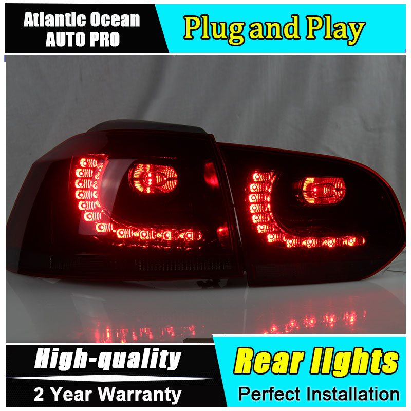 Car Styling for VW Golf 6 Taillights 2009-2012 for Golf MK6 R LED Tail Lamp Rear Lamp LED Fog Light DRL+Brake+Park+Signal lights car styling for honda city taillights 2009 2014 for city led tail lamp rear lamp drl brake park signal led lights