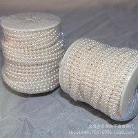 25 M 4 MM Dubbele Kralen Groothandel DIY Dubbele Draad Positionering Kralen Parel Bruids Haaraccessoires DIY bedrading accessoires