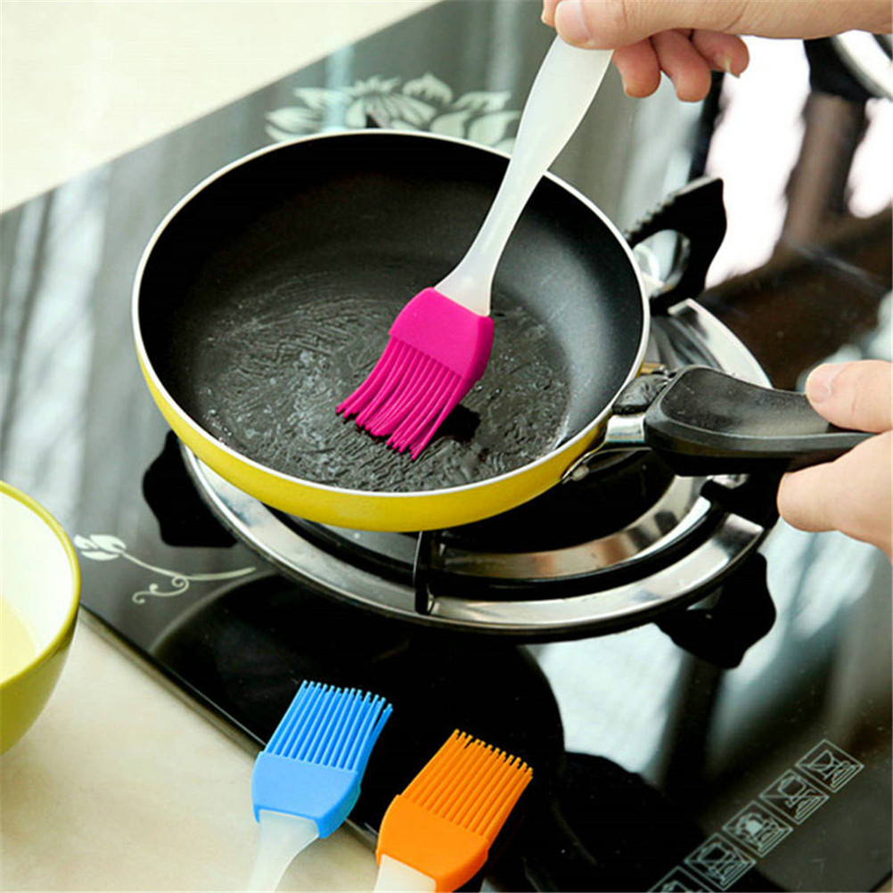 1PC Heat Resisting High Temperature Resistant Cleaning Barbecue Baking Cooking Silicone BBQ Basting Oil Brush