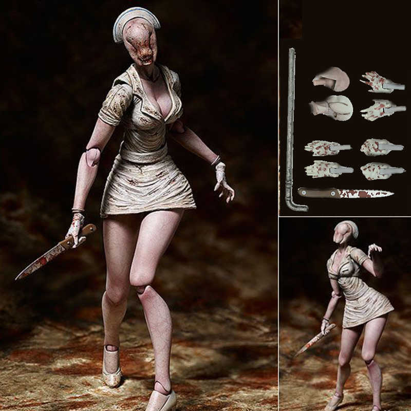 Game Silent Hill 2 Bubble Head Nurse Factory PVC Action Figure Collectible Model Toy Doll Gift 15cm