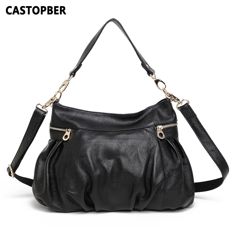 European And American Style Women Handbag Fashion Women Big Bag Shoulder Genuine Leather Cowhide Tote Crossbody High Quality Bag