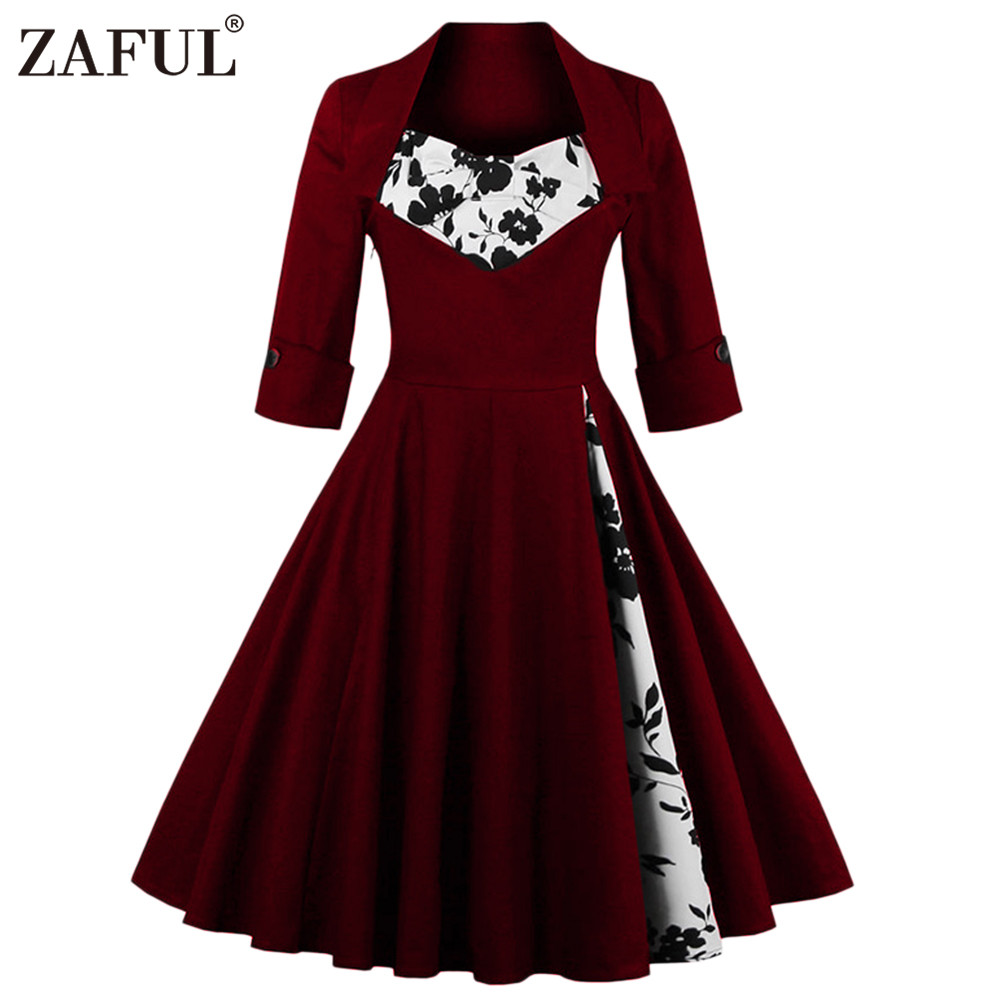 Zaful Uk Women Plus Size Clothing Audrey Hepburn 50s