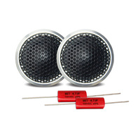 2Pcs Silver 120W High Frequency Interior Automobiles Auto Loud Speakers Car Tweeter Speaker