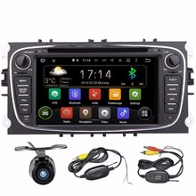 2Din Android Car DVD Player GPS Navigation for Ford Focus Mondeo 2012-2016 2 din car Audio Radio Stereo Head Unit Steering wheel