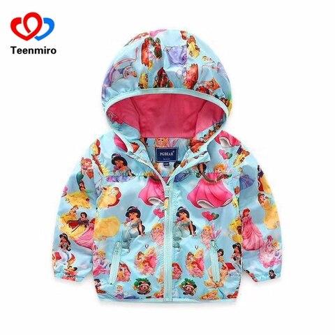 2020 casacos com capuz para meninas outerwear criancas outono princesa casaco jaqueta do bebe blusao