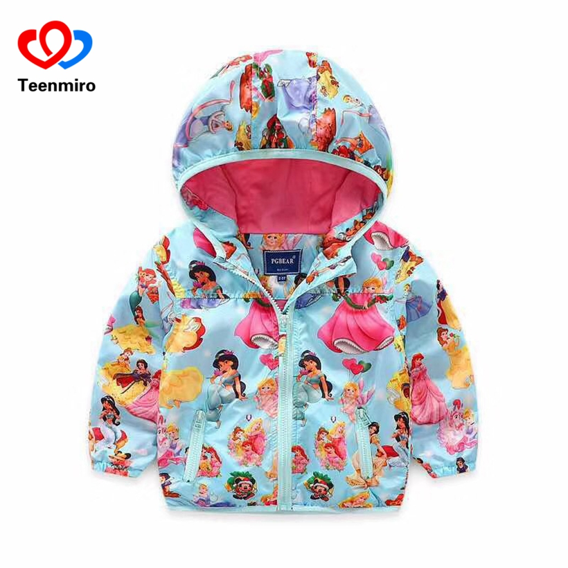 Fashion Sofia Jackets for Girls Outerwear kids Rapunzel Princess Coat Baby Jacket Windbreaker Children Clothing Pink Costume New