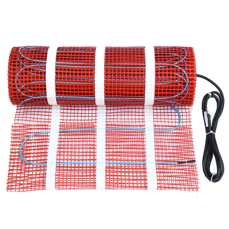 675W 4.5sqm Quick Heating Electric Heat Radiant Floor Mat For With Mutilfunctional Thermostats For Bathroom Free Shipping