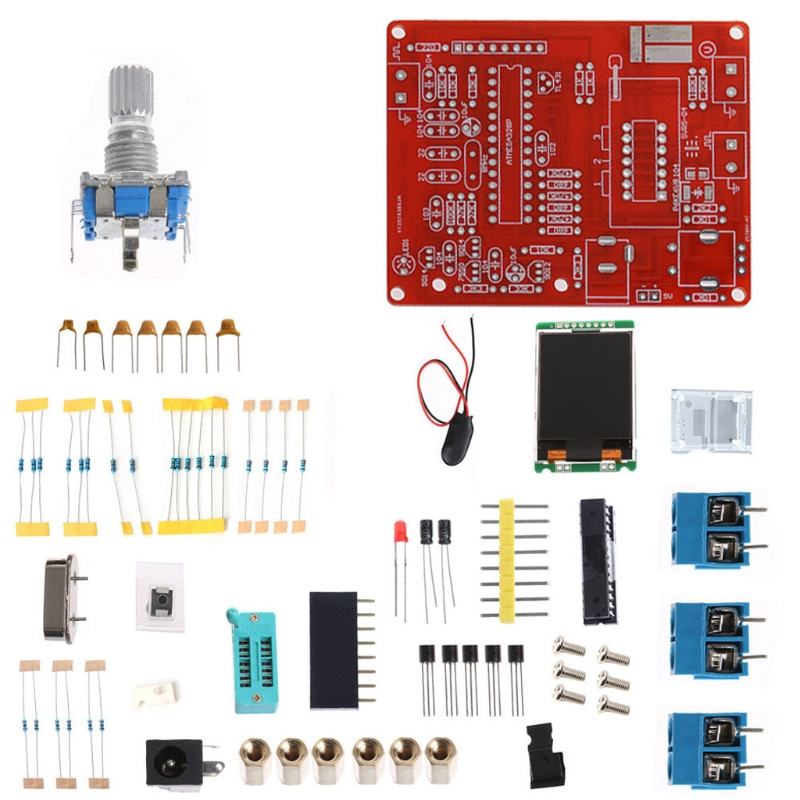 GM328 DIY Transistor Tester LCR Diode Capacitance ESR Meter PWM Signal Generator graphics version of the transistor tester lcr two or three tube line pwm esr fang bo signal diy suite