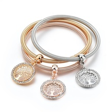 Фотография TOUCHEART European and American fashion Gold color Tree of Life Charm Bracelets for Women Crystal Bracelet & Bangle SBR170027