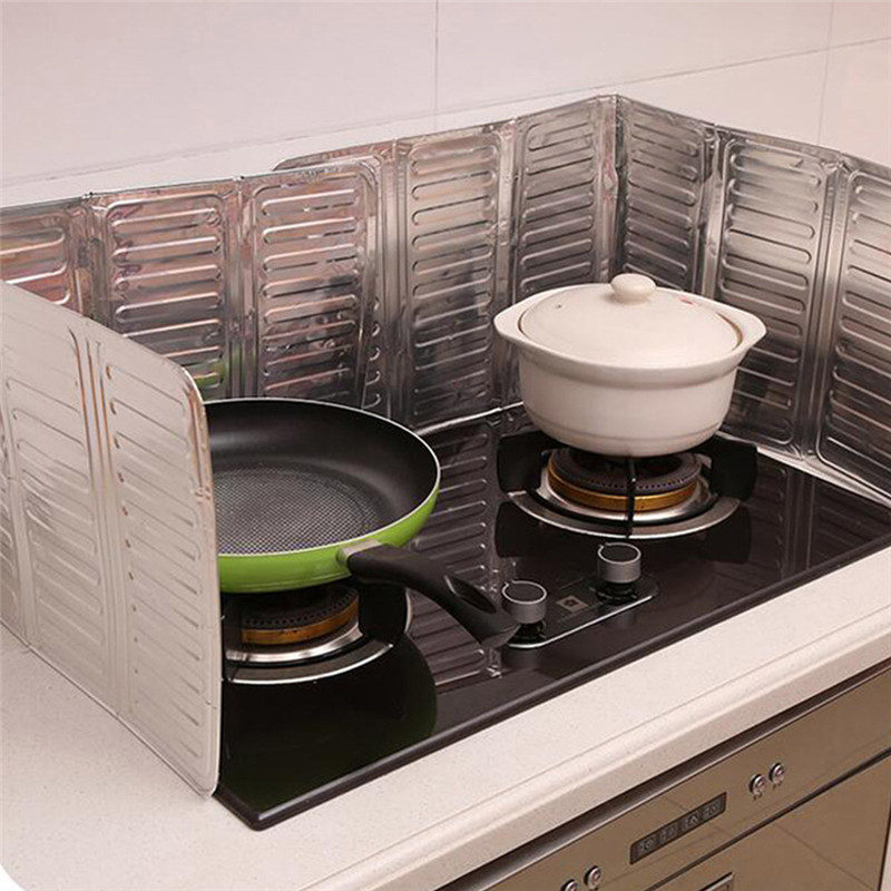 TTLIFE New Foldable Kitchen Cooking Tool PP Splatter Screen Plate Stove Grease Prevent Oil Splash Cooking Hot Oil Splash Baffle