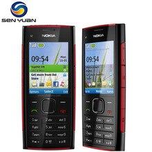 Nokia X2-00 разблокированный мобильный телефон 5.0MP камера Bluetooth FM MP3 MP4 плеер x2 дешевый сотовый телефон