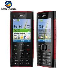 Orijinal Nokia X2-00 unlocked cep telefonu 5.0MP Kamera Bluetooth FM MP3 MP4 çalar x2 ucuz cep telefonu