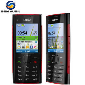 Nokia X2 Original X2-00 Unlocked GSM 5mp Refurbished Mp4-Player Cell-Phone Cheap FM MP3