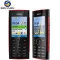 Original nokia x2-00 desbloqueado telefone celular câmera 5.0mp bluetooth fm mp3 mp4 player x2 telefone celular barato