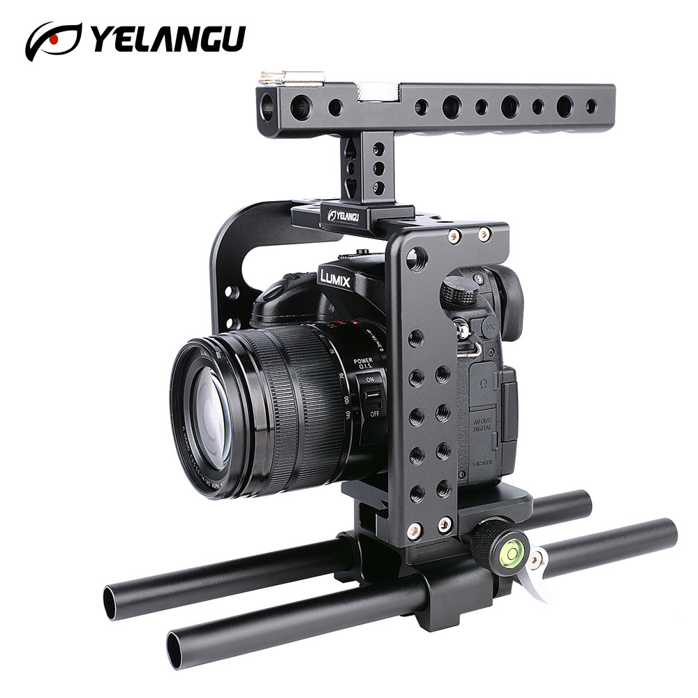 YELANGU New Arrival Aluminum Alloy Camera Cage Stabilizer  for Panasonic GH5/GH4 DSLR Durable and Stable