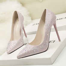 Super High Heels Wedding Crystal Shoes