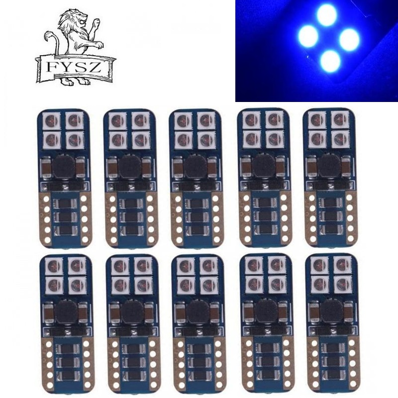 DYSZ T10 LED 3030 W5W 4W 8000K Cars From Light-Emitting Diodes Independent 8SMD Super bright decoding Auto Lamp blue DC12-24V