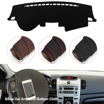 Console Dashboard Suede Mat Protector Sunshield Cover Fit For KIA Forte 2010-2012