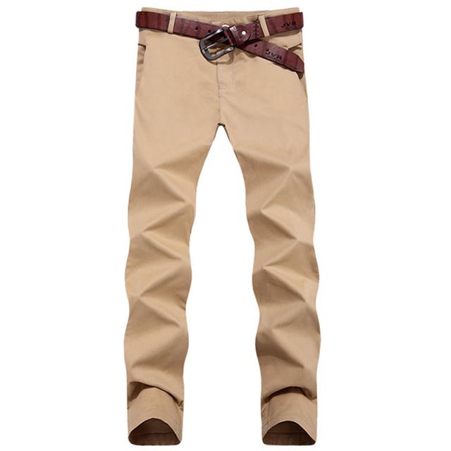 Primavera verano 2016 nueva casual algodón lavado recta ocasional de los hombres pantalones de alta calidad slim fit pantalones hombres de gran tamaño de los hombres pantalones