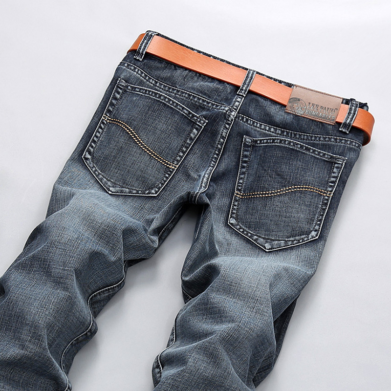 New Italian Style Fashion Full Length Solid Skinny Jeans Men Brand Designer Clothing Denim Pants Luxury Casual Trousers Male