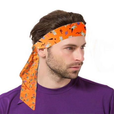 unids floral impreso tie back diademas stretch deportes muequeras banda para el cabello de la