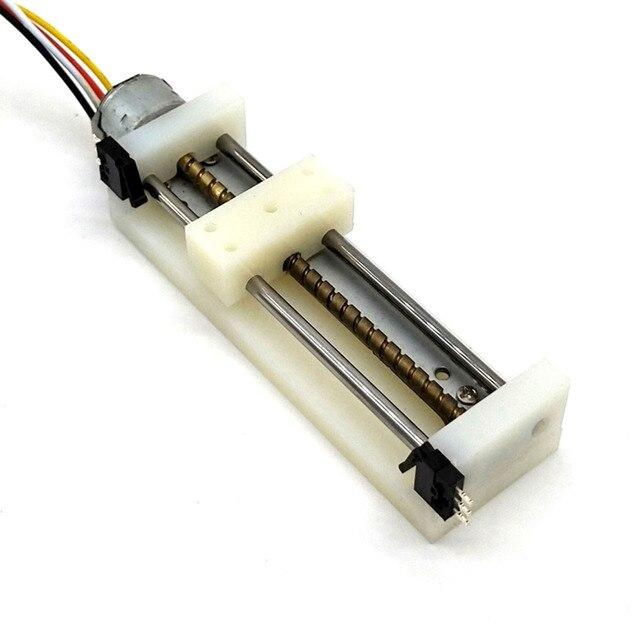 DIY קטן מחוון עם מגבלת מתג אופטי כונן מנוע צעד של מיקרו מחוון בורג מנוע