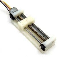 Deslizador pequeño DIY con interruptor de límite para Motor paso a paso de unidad óptica de Motor de tornillo Micro deslizante