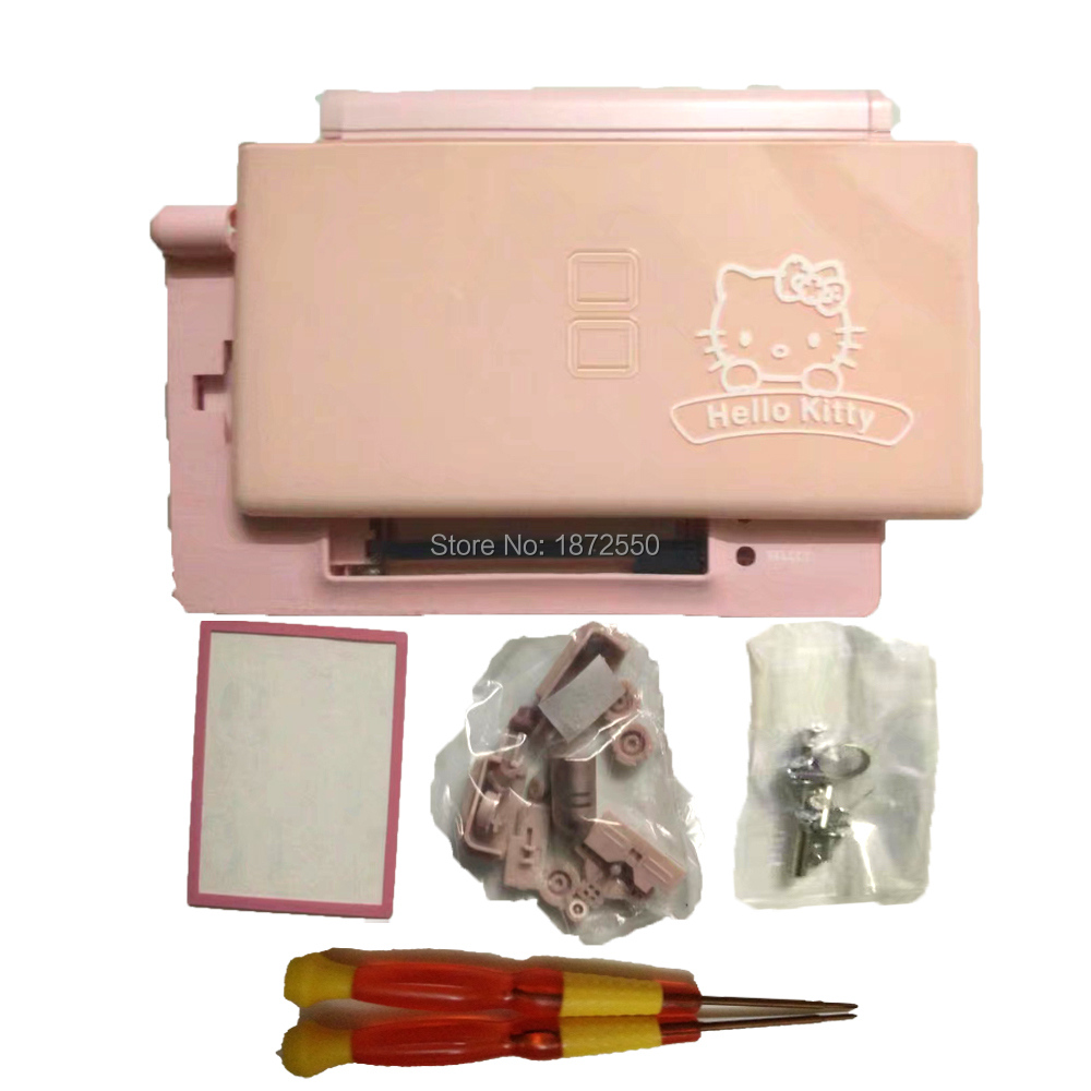 Color q online - Hi Q Pink Color Kitty Cat Parrtern Plastic Case For Nintendondsl Shell System Replacement Carton Housing Ds Lite X Y Screwdriver