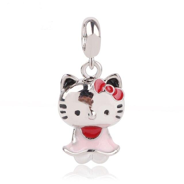 Ranqin Necklace European Fashion New Gift Original Pink Bead Fit Pandora Charm Bracelet 4