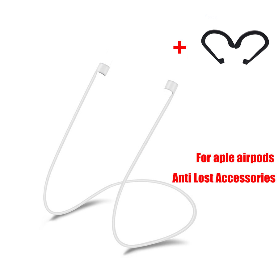 LAOKE For Apple Airpods Headphones Anti Lost Strap +ear hook for Air Pods Bluetooth Earphone Silicone Cable Cord Accessories