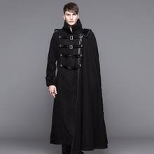 Men new Devil Fashion causal jacket coat winter new woolen warm detachable cape coat fashion punk gothic outwear Men Dust Coat