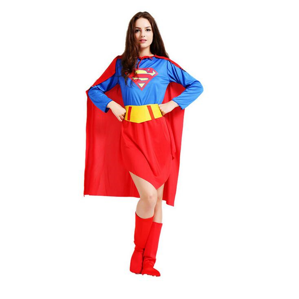New Halloween Adult Cosplay Costume Show Thor Amercian Avengers Superman Costume Hero Costume Girls Party Gown Clothes