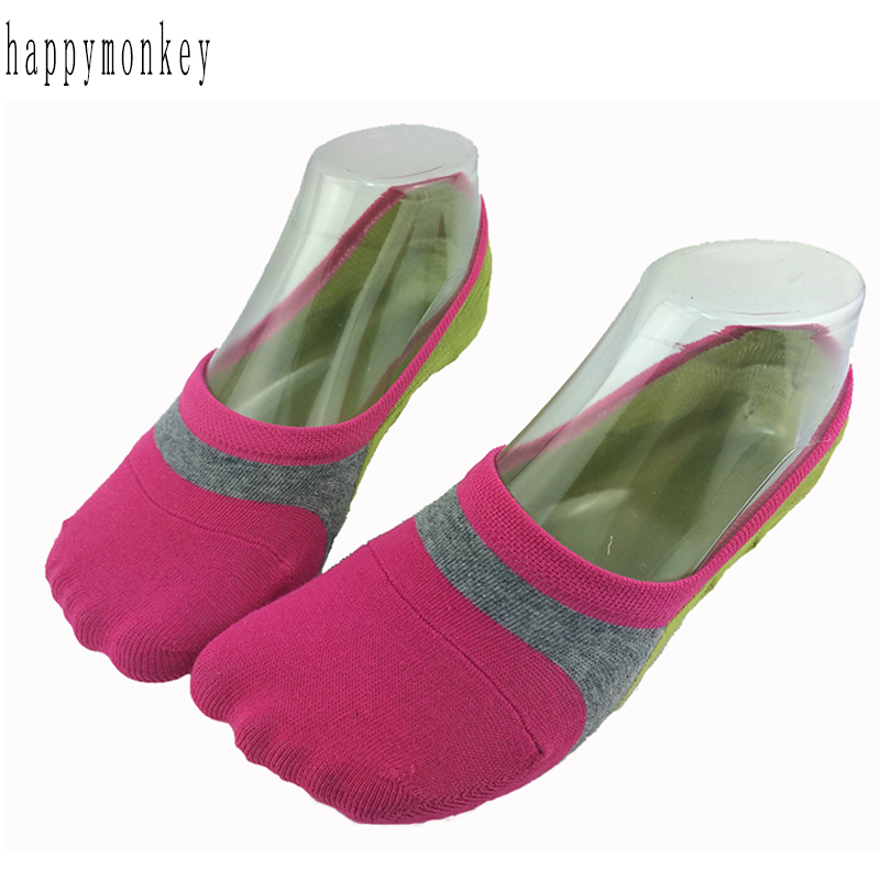 2015 10pieces=5pair new spring  summer candy color wrapping lady invisible socks silicone antiskid female ankle socks hit color
