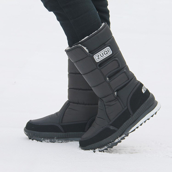 New men snow boots waterproof men's ankle boots Winter outdoor Fur warm Mans Boot fashion work shoes Men Shoes Unisex Size 36-46 6