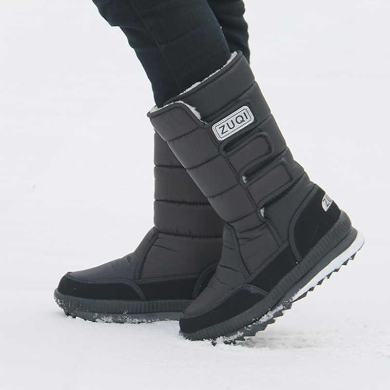 Nuevas botas de nieve para hombres, botas de tobillo impermeables para invierno, botas de piel para hombre, botas de trabajo de moda, zapatos para hombres, Unisex, tamaño 36-46