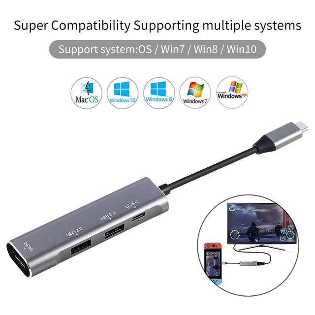 USB type C HUB USB-C vers HDMI 4K USB 3.0 2.0 Thunderbolt 3 Dex Mode adaptateur Dock pour MacBook pro Samsung S10 S9 huawei P20 Pro