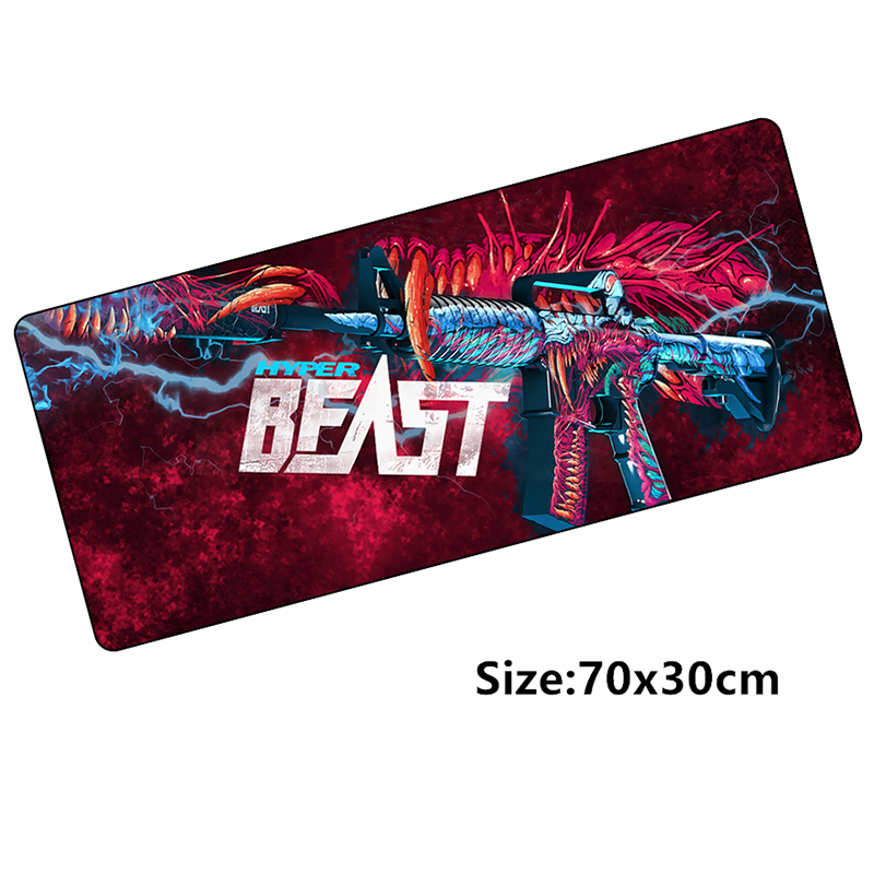 70*30cm M4A1 Mouse Pad Mat For CSGO Skins Hyper Beast Gaming Mousepad For CS: GO Game Gamer Keyboard Loptop Notbook Mat Locked