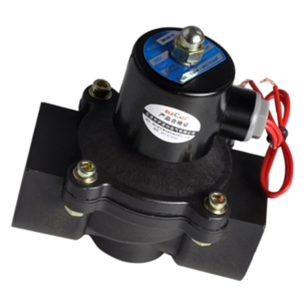 Electric Solenoid Valve For Water Air Oil Fuels Normally Closed 1-1/4 220VElectric Solenoid Valve For Water Air Oil Fuels Normally Closed 1-1/4 220V