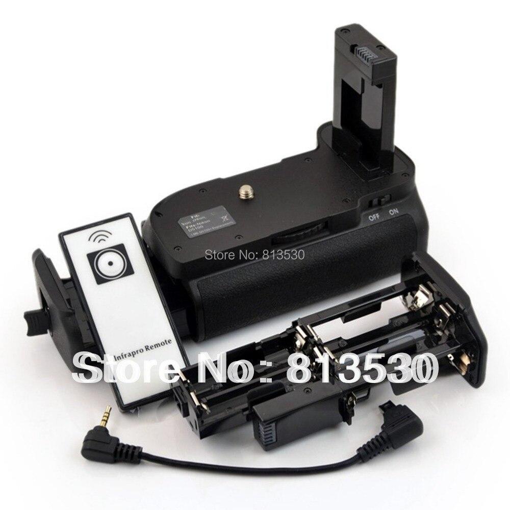 D3100 D3200 D3300 D5300 Battery Grip + IR Remote Control + 6 AA Battery Solt  For Nikon D3100 D3200.